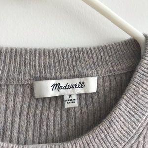 Madewell Tops - Madewell Flounce-Sleeve Ribbed Sweater